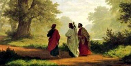 Jesús-aparece-a-dos-creyentes-que-viajan-a-Emaús