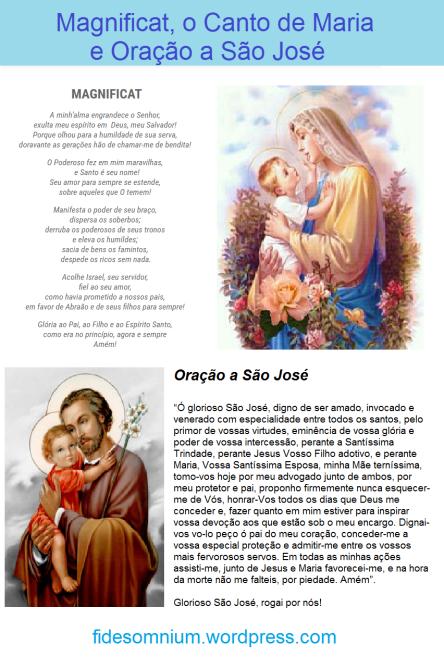 Magnificat e Oração a saojosé